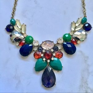 Jewelry - Jeweled Bib Statement Necklace